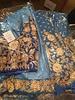 Bridal Blue lehenga w/ Aari work Threadwork and Sequence on Pure Silk