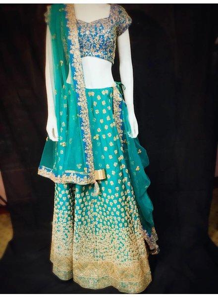 Bridal Sky Blue Lehenga