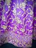 Bridal Purple and Blue Lehenga w/ Ari Emb on Short Silk