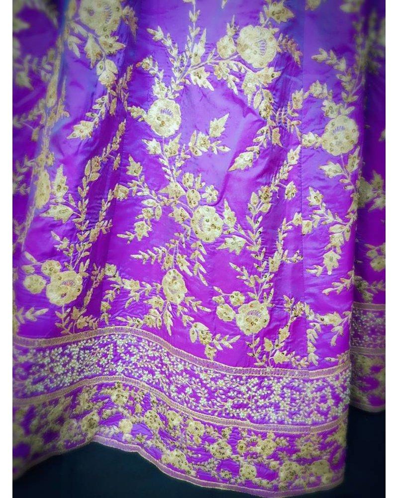 Bridal Purple and Blue Lehenga