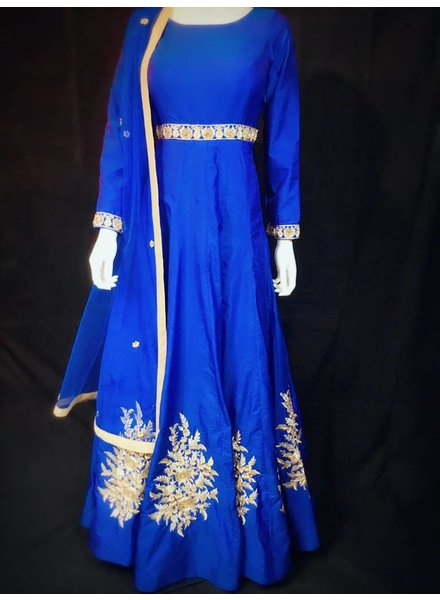 Party wear Blue Gown