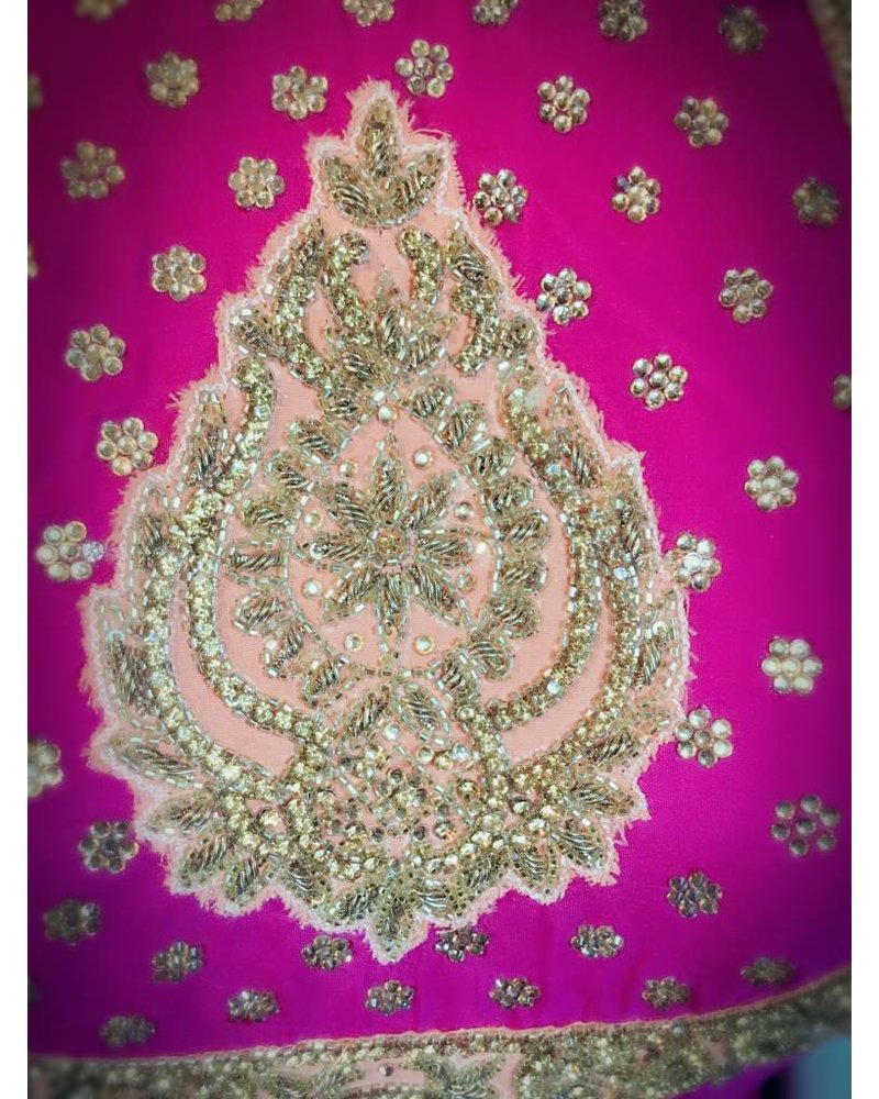 Bridal Pink and Peach Lacha