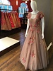 Bridal Gown in Dusty Rose w/ Threadwork on net and lace