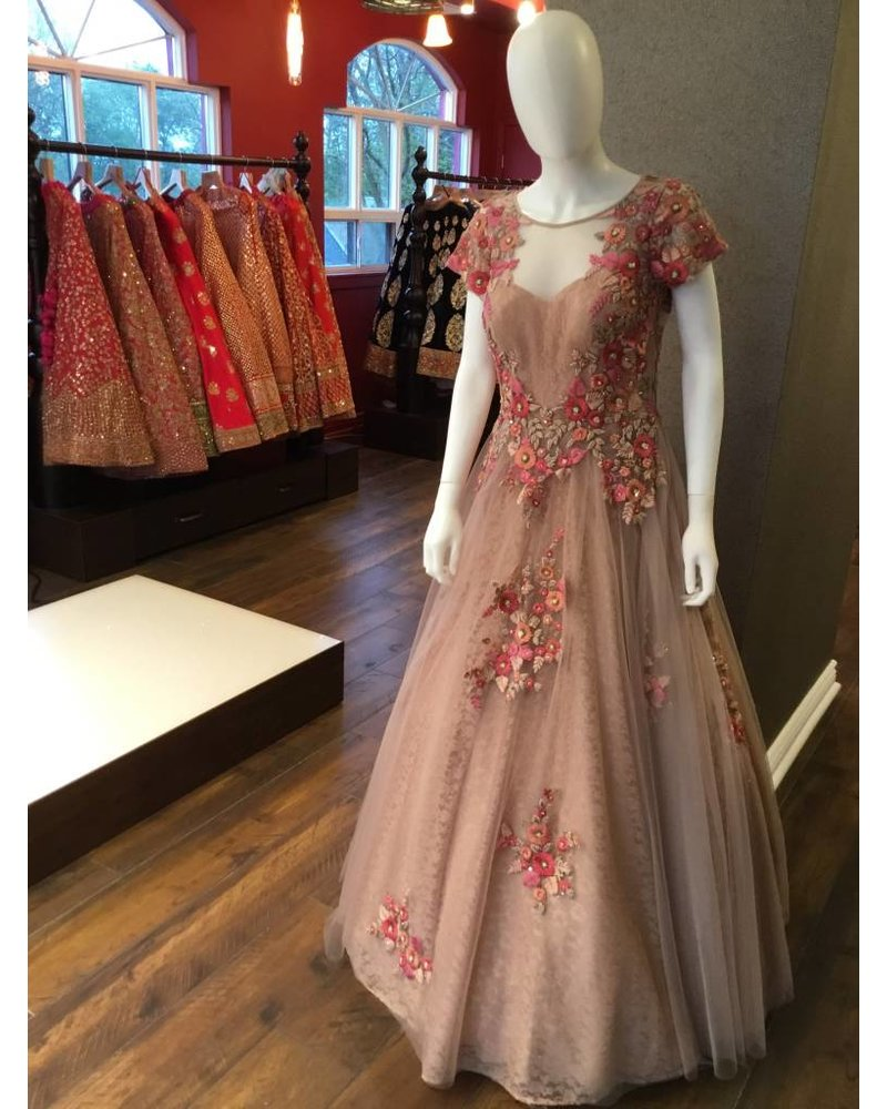 Bridal Gown in Dusty Rose