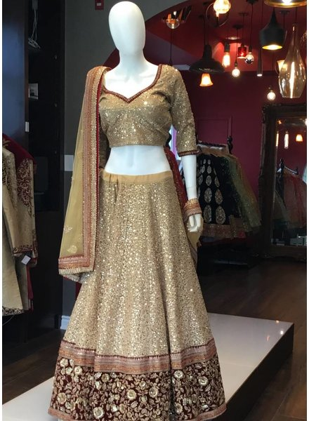 Bridal Dusty Gold Lengha