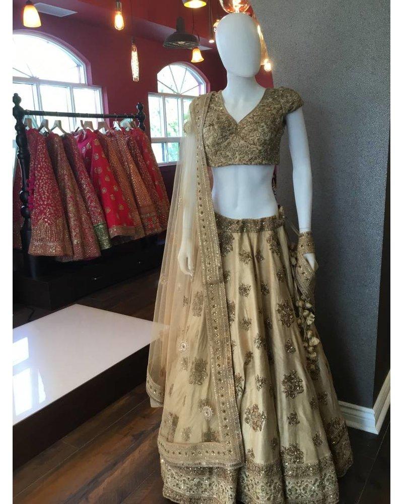 Bridal Gold Lehenga