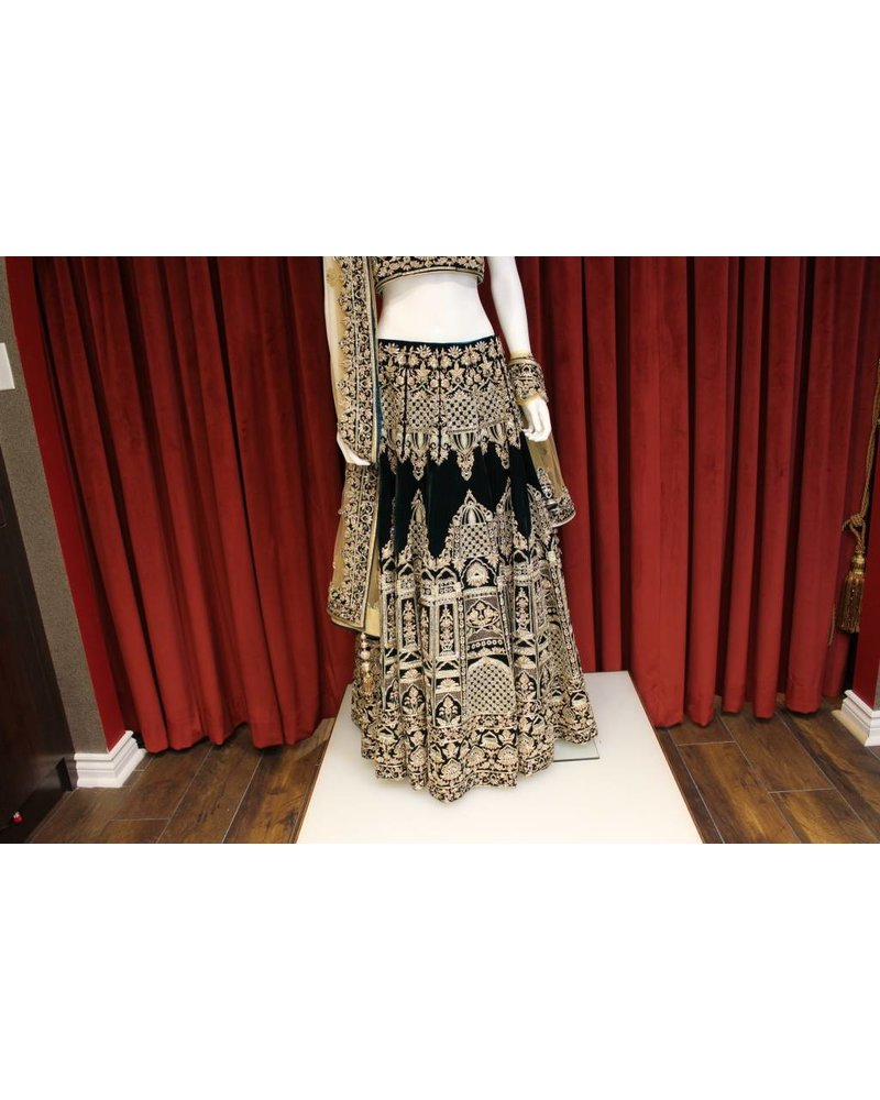 Bridal Dark Green Lehenga