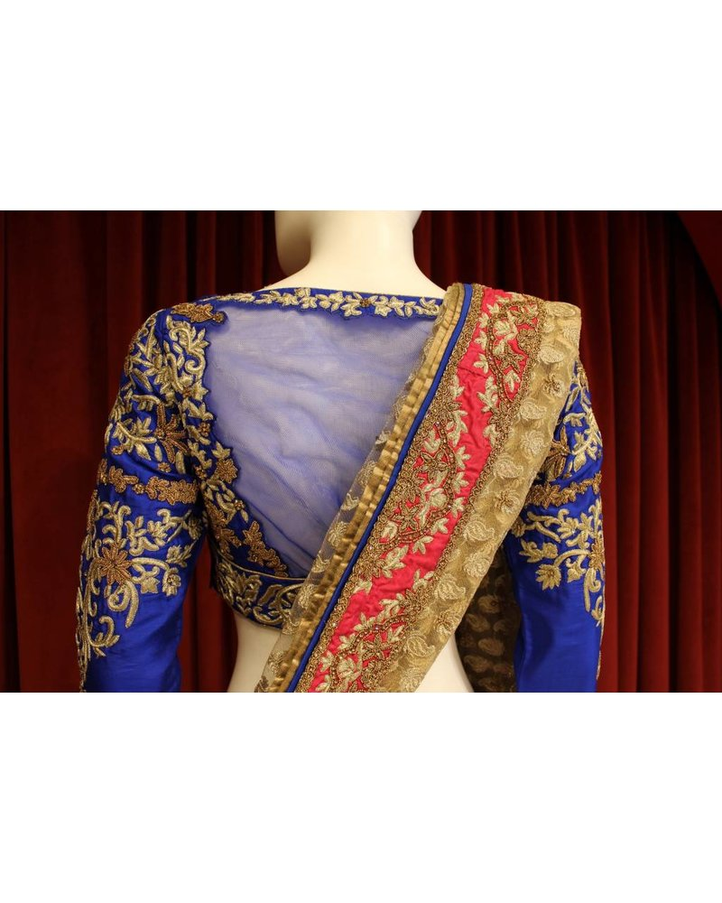 Bridal Hot Pink and Blue Lehenga