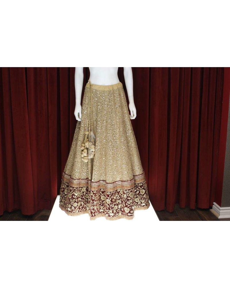 Bridal Gold Lehenga w/ sequence on silk