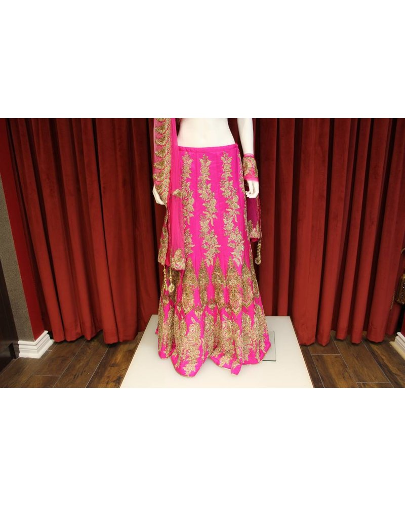 Bridal Hot Pink Lehenga