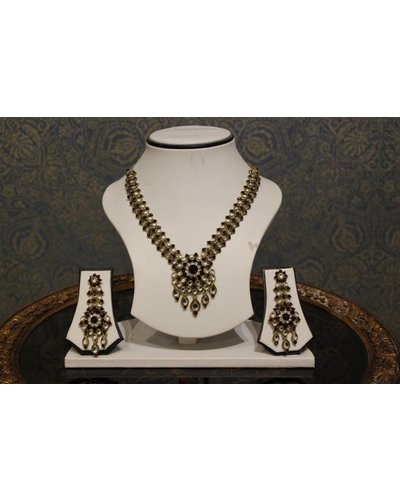 Dark Purple and Gold Necklace Set