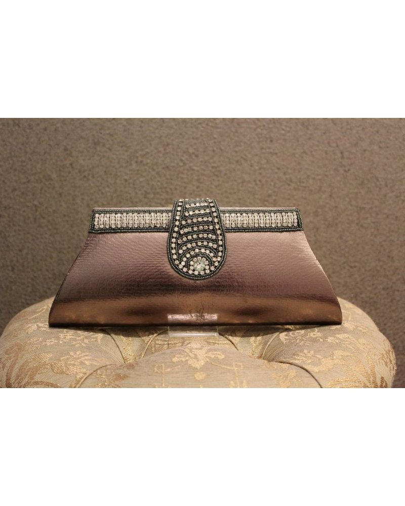 Silver Brown Purse