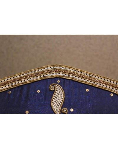 Blue and Gold Sequence Purse