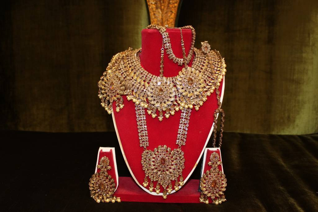 jewellery designs necklace bridal gold