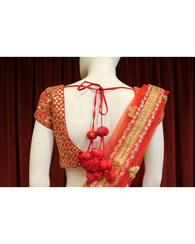 Bridal Red and Orange Lehenga