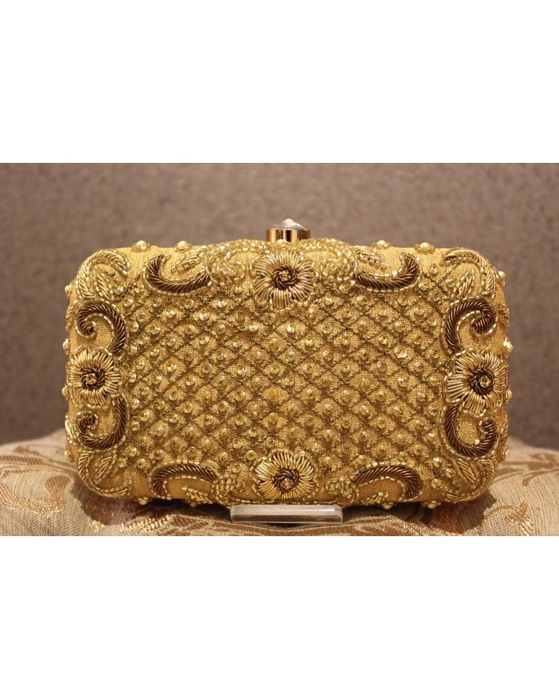 Gold Purse with beads