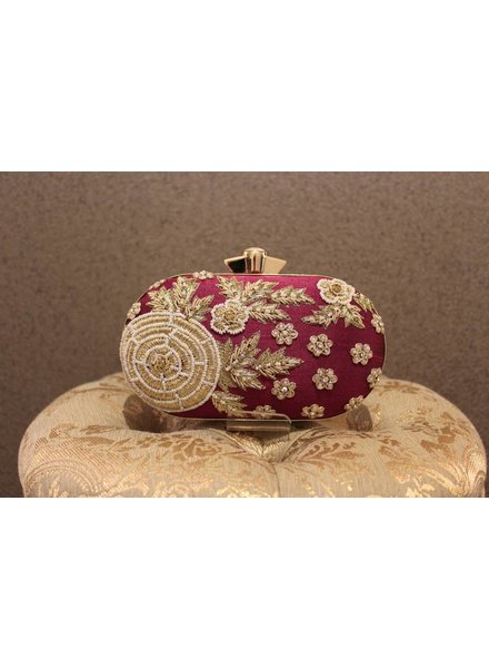 Magenta Purse with flowers