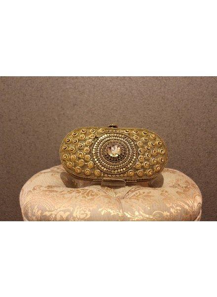 Gold Purse w/ big Jewel