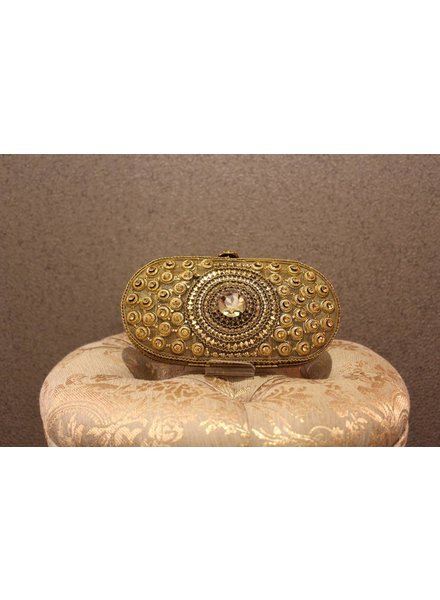 Gold Purse with big Jewel
