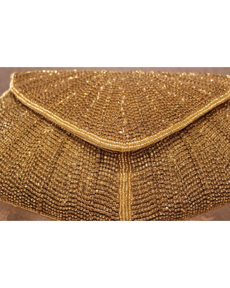 Pointy Gold Purse