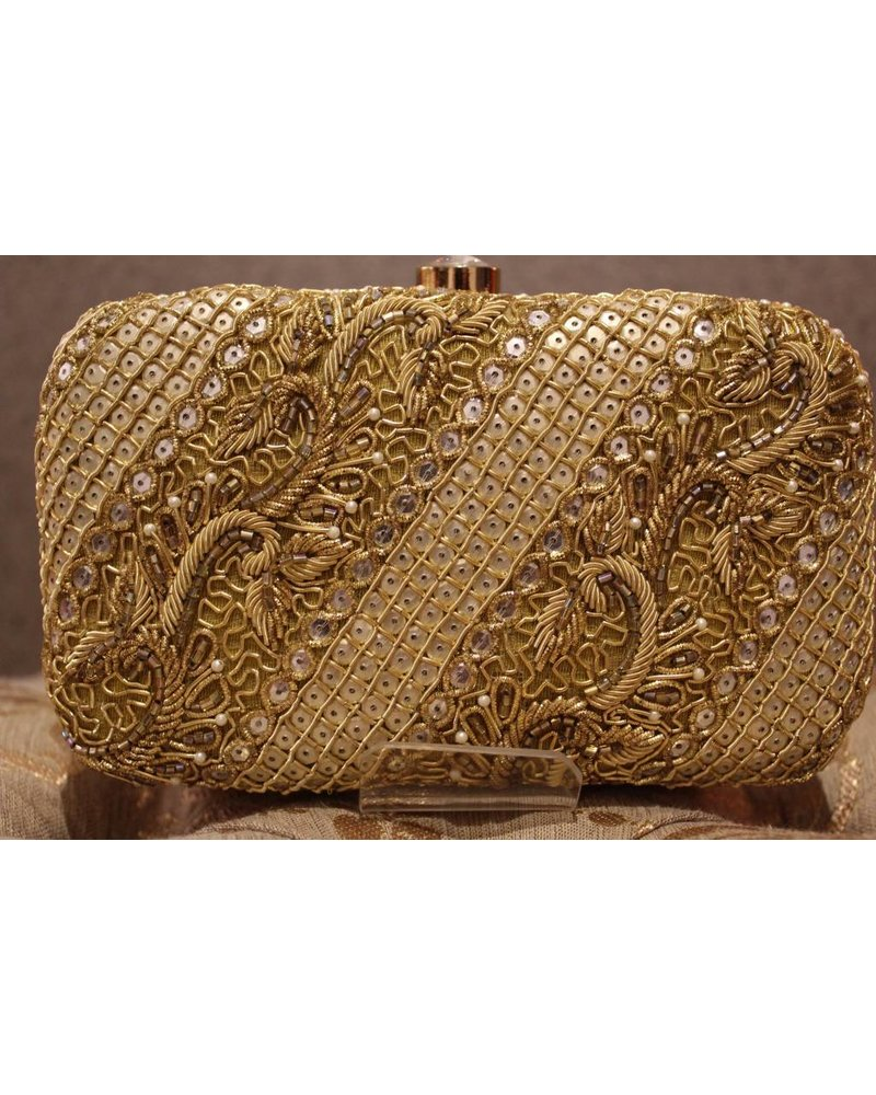 Gold Purse with Threadwork