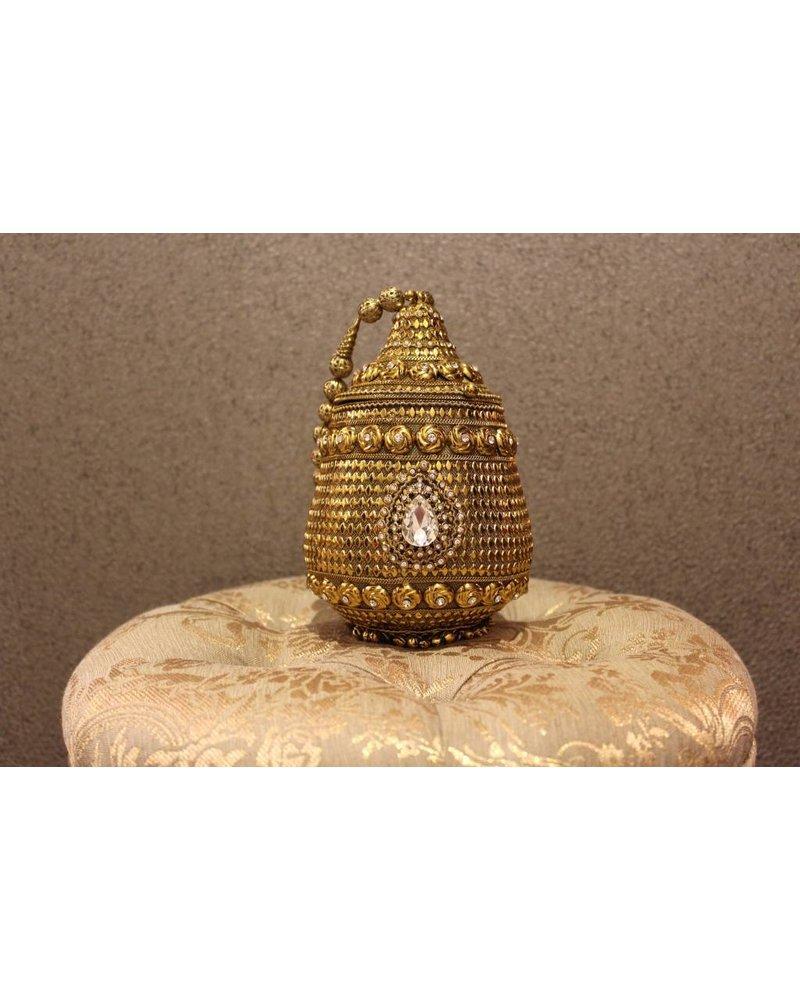 Gold Purse w/ bell tassels