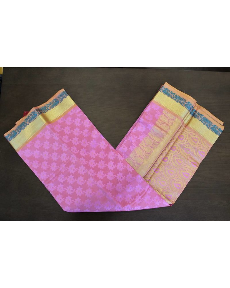 Pink Artsilk Saree