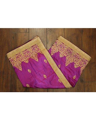 Purple and Gold Silk Saree
