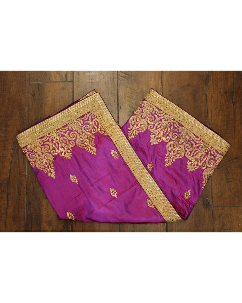 Purple and Gold Silk Saree