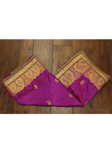 Purple Pearl Silk Saree