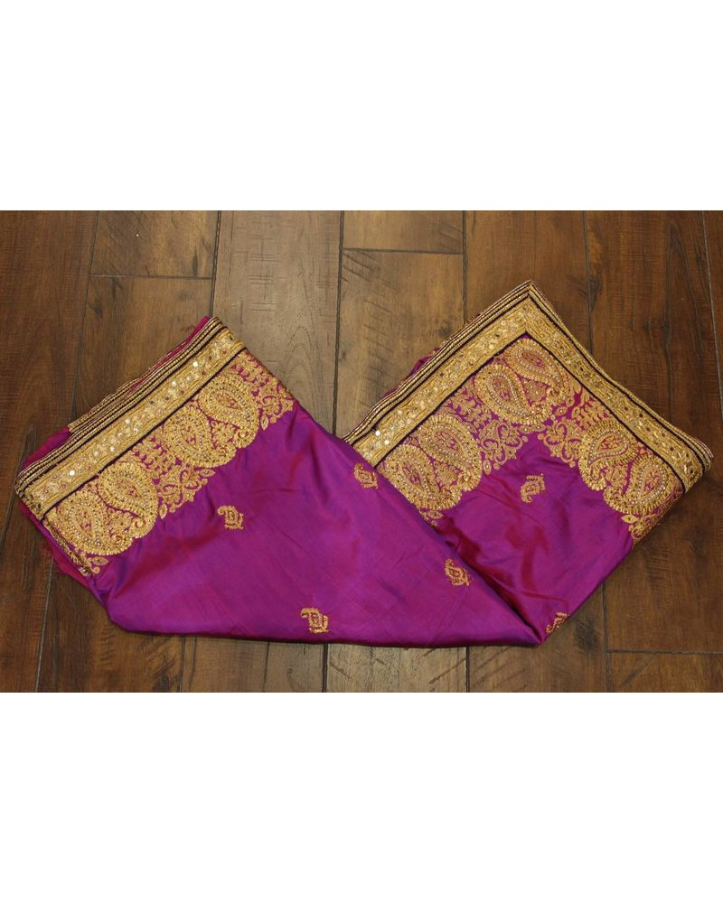 Purple Pearl Silk Saree
