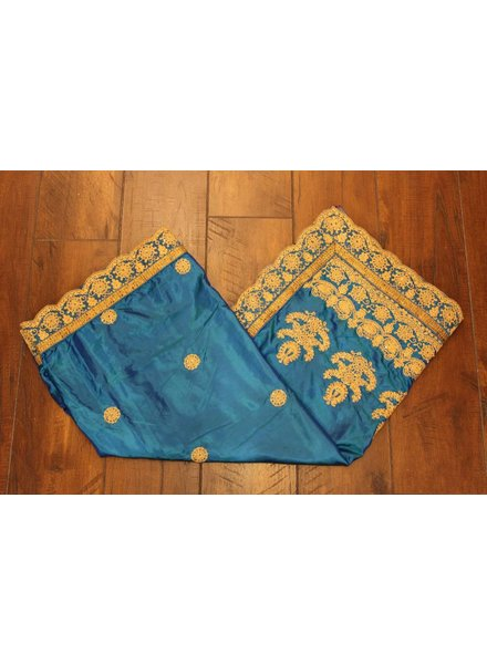 Blue and Gold Silk Saree