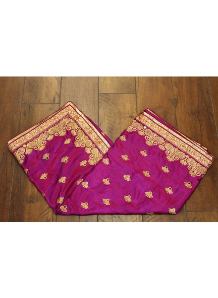Purple Mirror Silk Saree