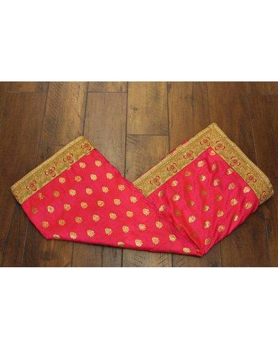 Pink and Gold Silk Saree