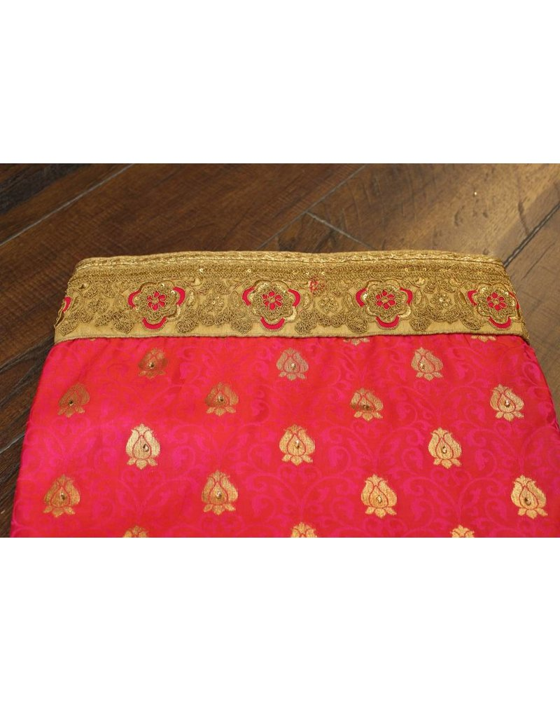 Pink and Gold Silk Saree