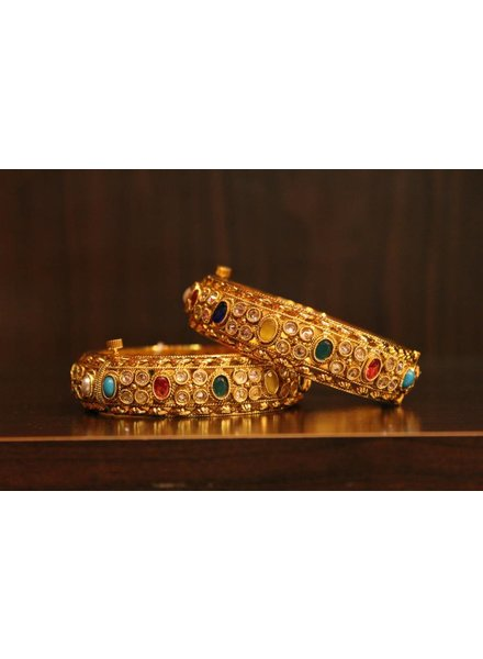 Multicolour Oval and Jewel Bracelet (2.2, 2.6, 2.8)