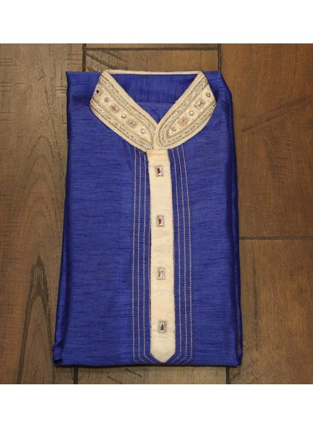Blue and White Kurta