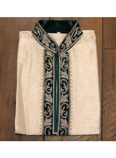 White and Green Kurta