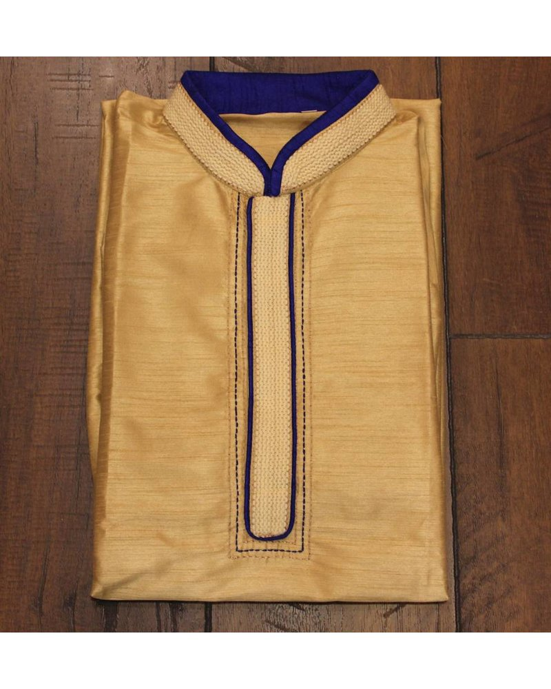 Gold and Blue Kurta