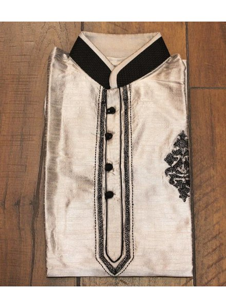 Grey and Black Kurta
