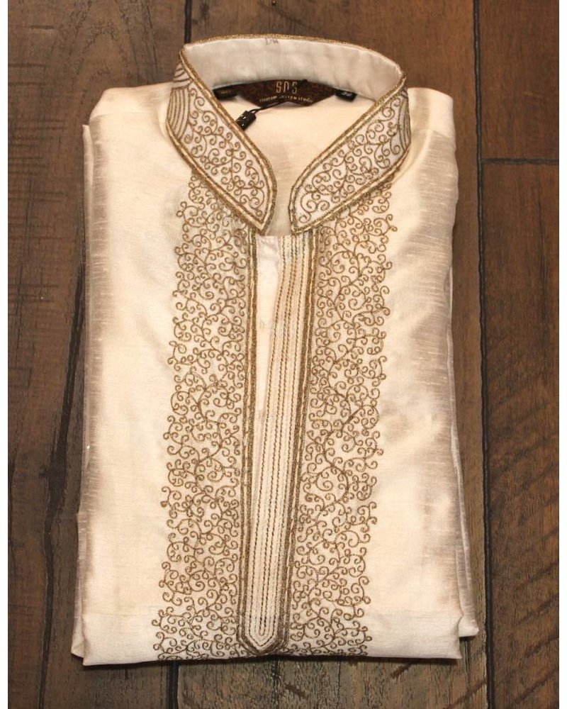 White and Gold Kurta