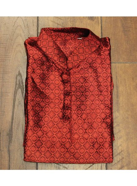Red and Black Kurta