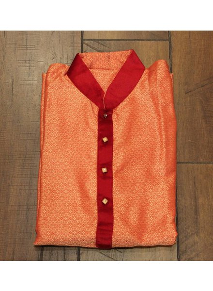 Orange and Red Kurta