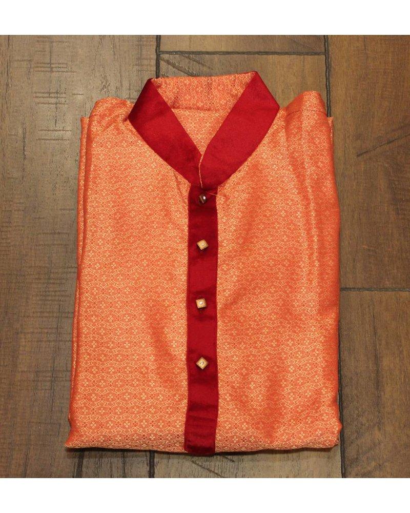 Orange and Red Kurta