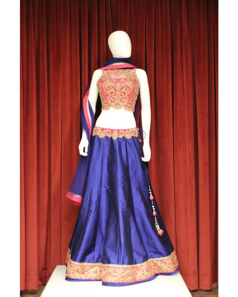 Party Wear Blue Lehenga
