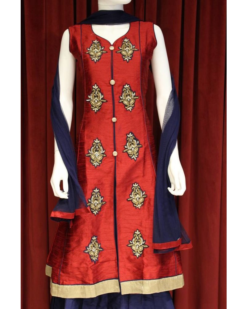 Party Wear Navy Blue Laacha
