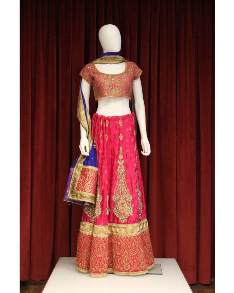 Party Wear Pink Lehenga