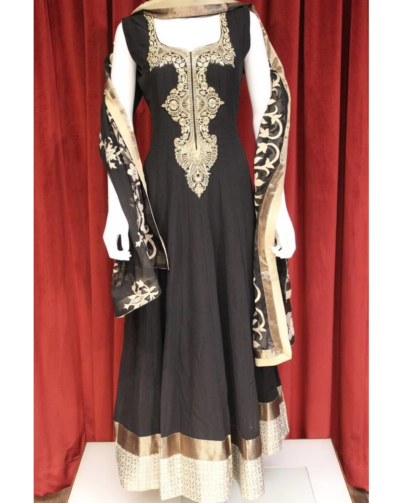 Party Wear Black Anarkali