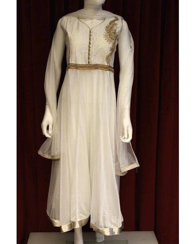 Party Wear White Anarkali