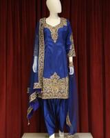 Party Wear Navy Blue Salwar Kameez